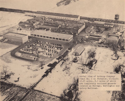 Aerial view of the factory