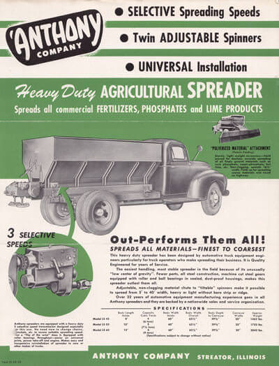 Flyer for Agricultural Spreaders