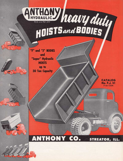 Flyer for Heavy Duty Truck Hoists