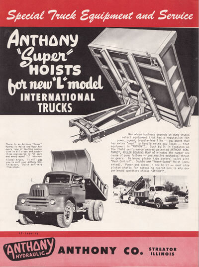 Flyer for International Truck Hoists