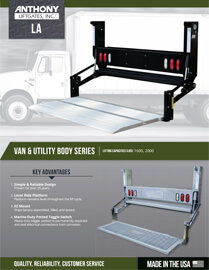 la 86 liftgates for vans utility and stake bodies. Black Bedroom Furniture Sets. Home Design Ideas