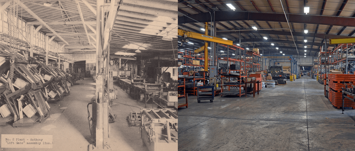 Then and Now factory floor photo